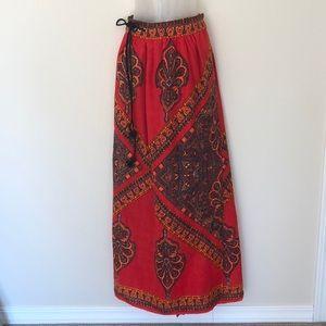 Vintage maxi wrap around skirt